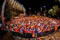 Santiago Bernabeu surroundings full of fans