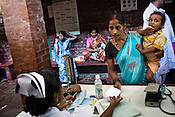 Pregnant women wait to meet the doctors during the OPD in Duncan Hospital in Raxaul of East Champaran district of Bihar, India. Photograph: Sanjit Das/Panos for Legatum Foundation
