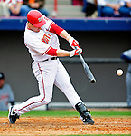 9 March 2010: Washington Nationals' outfielder Josh Willingham in action during a Spring Training game against the Detroit Tigers at Space Coast Stadium in Viera, Florida. The Tigers defeated the Nationals 9-4 in Grapefruit League action. Mandatory Credit: Ed Wolfstein Photo