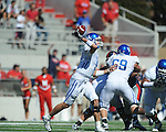 Kentucky's Mike Hartline (5) passes at Vaught-Hemingway Stadium in Oxford, Miss. on Saturday, October 2, 2010. Ole Miss won 42-35 to improve to 3-2..