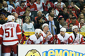 Head Coach of Detroit Red Wings Mike Babcock at bench during ice-hockey match between Los Angeles Kings and Detroit Red Wings in NHL league, February 28, 2011 at Staples Center, Los Angeles, USA. (Photo By Matic Klansek Velej / Sportida.com)
