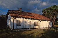 """Europe/France/Aquitaine/40/Landes/Parc Naturel Régional des Landes de Gascogne/Marquèze (écomusée de la Grande Lande) /Sabres: La maison de maître dite """"Le Mineur"""""""