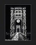 George Washington Bridge, GWB, with full moon in the evening with the towers lit, illuminated, lights on, taken by, Dave Rossi, Dave, Rossi, Ft Lee, lee, NJ, New Jersey, New York, background,taken, straight,second tower, color, black and white or B&W, spot color, american flag, fine, art, Limited, edition, prints, commercial,stock,