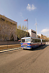 Washington DC: Tram that circulates around the Mall, allowing for transportation between the Memorials and Attractions..Photo wash99327-70664..Photo copyright Lee Foster, www.fostertravel.com, lee@fostertravel.com, 510-549-2202.