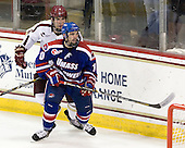 Patrick Wey (BC - 6), Ryan McGrath (UML - 10) - The Boston College Eagles defeated the visiting University of Massachusetts Lowell River Hawks 6-3 on Sunday, October 28, 2012, at Kelley Rink in Conte Forum in Chestnut Hill, Massachusetts.