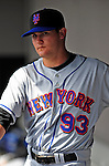 4 March 2009: New York Mets' infielder Reese Havens stands in the dugout during a Spring Training game against the Washington Nationals at Space Coast Stadium in Viera, Florida. The Nationals rallied to defeat the Mets 6-4 . Mandatory Photo Credit: Ed Wolfstein Photo