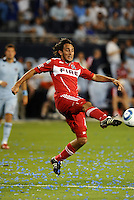 Gaston Puerari, Chicago Fire...Sporting KC and Chicago Fire played to a scoreless tie in the inaugural game at LIVESTRONG Sporting Park, Kansas City, Kansas.