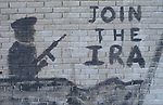 Belfast The Troubles. 1980s. IRA graffiti