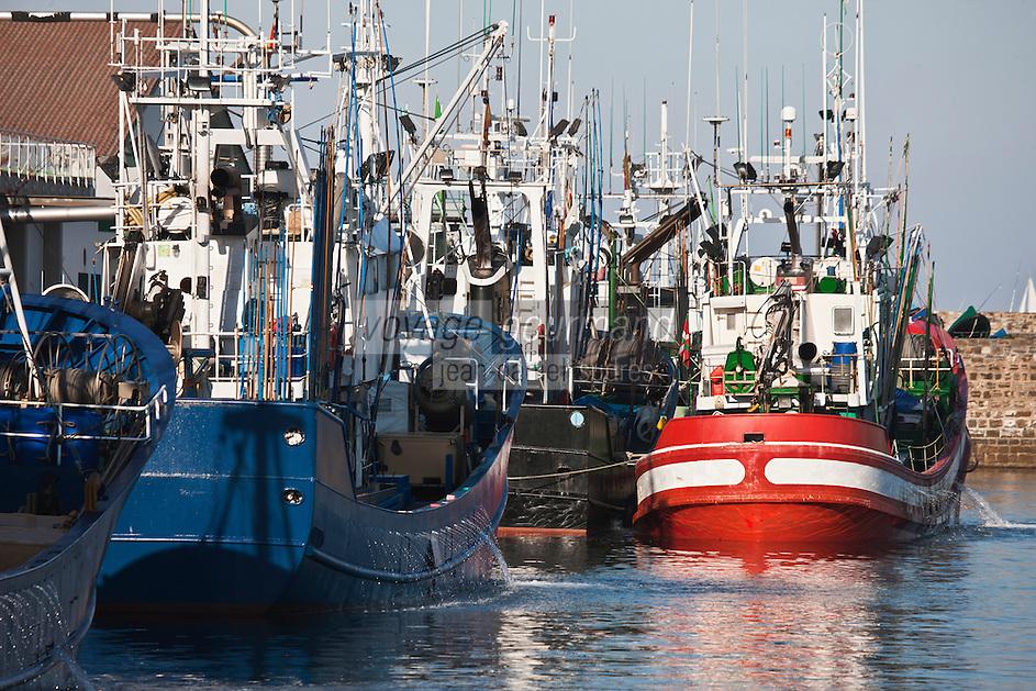 Europe/Espagne/Pays Basque/Guipuscoa/Fontarrabie: Le port de pêche - Thonier Canneur