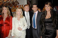 L-R: Vanessa Trump, Bonnie Hayden, Donald Trump, Donald Trump  jr and Melania Trump attend the Trump Magazine and FAO Schwarz evening shopping fete to celebrate the birthdays of Vanessa and Donald Trump Jr. with a percentage of all proceeds from sales during the event to benefit Operation Smile, held in FAO Schwarz Fifth Avenue Store, Monday, December 11, 2006 in New York.<br />