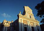 church at sunset in Old San Juan