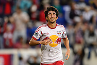 Kosuke Kimura (27) of the New York Red Bulls. The New York Red Bulls defeated FC Dallas 1-0 during a Major League Soccer (MLS) match at Red Bull Arena in Harrison, NJ, on September 22, 2013.