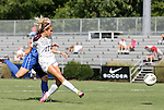 09 September 2011: Texas A&M's Shea Groom (17) takes a shot. The Duke University Blue Devils defeated the Texas A&M Aggies 7-2 at Koskinen Stadium in Durham, North Carolina in an NCAA Division I Women's Soccer game.