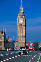Westminster Bridge and Big Ben, London, England
