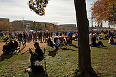 October 30, 2010<br /> Washington DC<br /> District of Columbia<br /> <br /> Comedians Jon Stewart and Stephen Colbert entertained a huge crowd at the &quot;Rally to Restore Sanity&quot; and &quot;Keep Fear Alive&quot; to poking fun at the nation's ill-tempered politics, fear-mongers and doomsayers.<br /> <br /> Part comedy show, part pep talk, the rally drew together tens of thousands stretched across an expanse of the National Mall, a festive congregation of the goofy and the politically disenchanted.<br /> <br /> Going home.