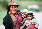 Quechua mother with children, Peru