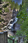 Caribou River Falls in High Dynamic Range image in a painting like view.