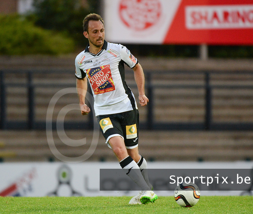 20150807 - ROESELARE, BELGIUM: Roeselare's Mickael Seoudi pictured during the Proximus League match between KSV Roeselare and RFC Seraing , in Roeselare , Friday 7 August 2015, on the 1st day of the Belgian second division soccer championship. PHOTO DAVID CATRY
