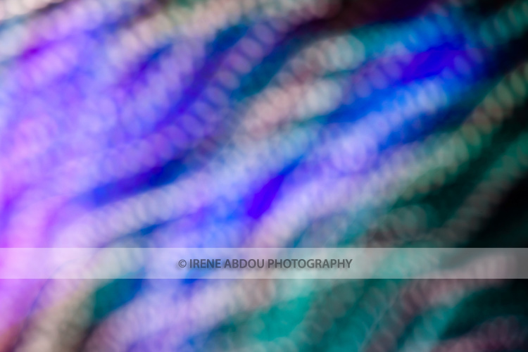 "At a holiday light display (Brookside Gardens Garden of Light in Wheaton, Maryland), patterns of light are created by ""de-focusing"" the camera and moving the camera diagonally during a 0.8-second exposure."
