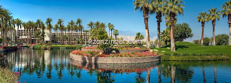 Desert Springs JW Marriott Resort and Spa, Palm Desert, CA, Lake, Panorama, CGI Backgrounds, ,Beautiful Background