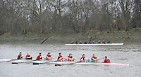 London, Great Britain,   Vesta BC A, rowing past Chiswick Pier, during the 2012 Head of the River Race, raced over Rowing Course Championship course,  Mortlake to Putney  4.25 Miles, on the River Thames.   Saturday  03/03/2012} [Mandatory Credit: © Peter Spurrier/Intersport Images]