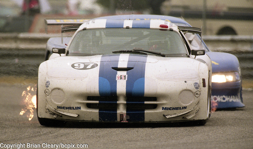 The #97 Dodge Viper GTS-R of George Robinson, Eric Bachelart, Trevor Seibert and Victor Sifton races to a 58th place finish in the 24 Hours of Daytona, IMSA race, Daytona International Speedway, Daytona Beach , FL, February 4, 1996.  (Photo by Brian Cleary/www.bcpix.com)
