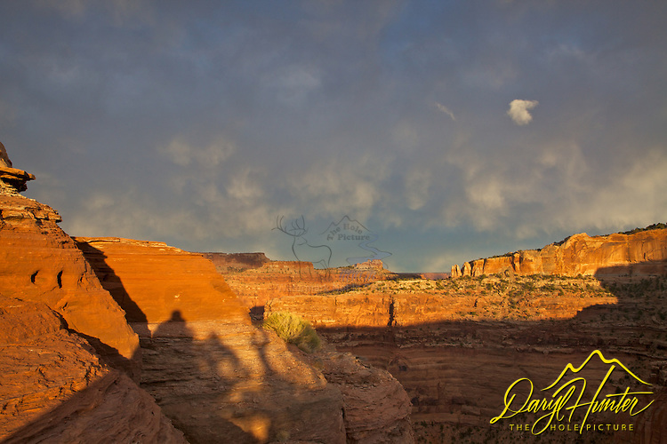Stormy evening sky, Canyonlands, National Park, Moab, Utah