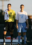 2 September 2007: North Carolina's Tyler Deric (24) and Bill Dworsky (2). The University of North Carolina Tar Heels tied the Old Dominion University Monarchs 1-1 at Fetzer Field in Chapel Hill, North Carolina in an NCAA Division I Men's Soccer game.