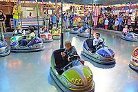 Fun on the dodgems! Fiesta, San Pedro de Alcantara, Marbella, Spain, 15th October 2015, 201510151774<br /> <br /> Copyright Image from Victor Patterson, 54 Dorchester Park, Belfast, UK, BT9 6RJ<br /> <br /> t1: +44 28 9066 1296 (from Rep of Ireland 048 90661296)<br /> t2: +44 28 9002 2446 (from Rep of Ireland 048 90022446)<br /> m: +44 7802 353836<br /> <br /> e1: victorpatterson@me.com<br /> e2: victorpatterson@gmail.com<br /> <br /> www.victorpatterson.com<br /> <br /> IMPORTANT: Please see my Terms and Conditions of Use at www.victorpatterson.com