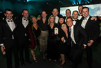 The Powershop team celebrate winning their Global Gold Award. Wellington Gold Awards at TSB Bank Arena, Wellington, New Zealand on Thursday, 9 July 2015. Photo: Dave Lintott / lintottphoto.co.nz