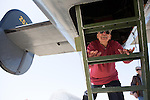 "The annual Wings of Freedom Tour landed at Moffett Federal Airfield in Mountain View in May, allowing residents to tour bomber aircraft used in World War II. Aviation enthusiast Tony Sapienza climbs aboard a B-24 Liberator ""Witchcraft""."