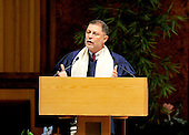 "Rabbi Bruce Lustig, Senior Rabbi, Washington Hebrew Congregation makes remarks at the September 11 remembrance at Washington Hebrew Congregation in Washington, D.C. on September 11, 2011 which is part of the ""The Washington National Cathedral's A Call to Compassion"" to commemorate the 10th anniversary of the terrorist attacks in New York, New York and Washington, D.C..Credit: Ron Sachs / CNP"