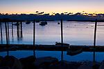 Rye Harbor before sunrise. Rye, New Hampshire.