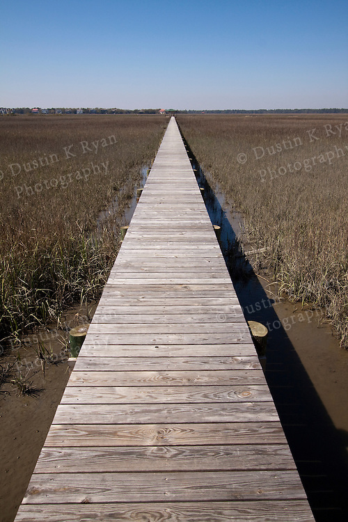 long dock vanishing point south carolina lowcountry marsh wooden planks scenery