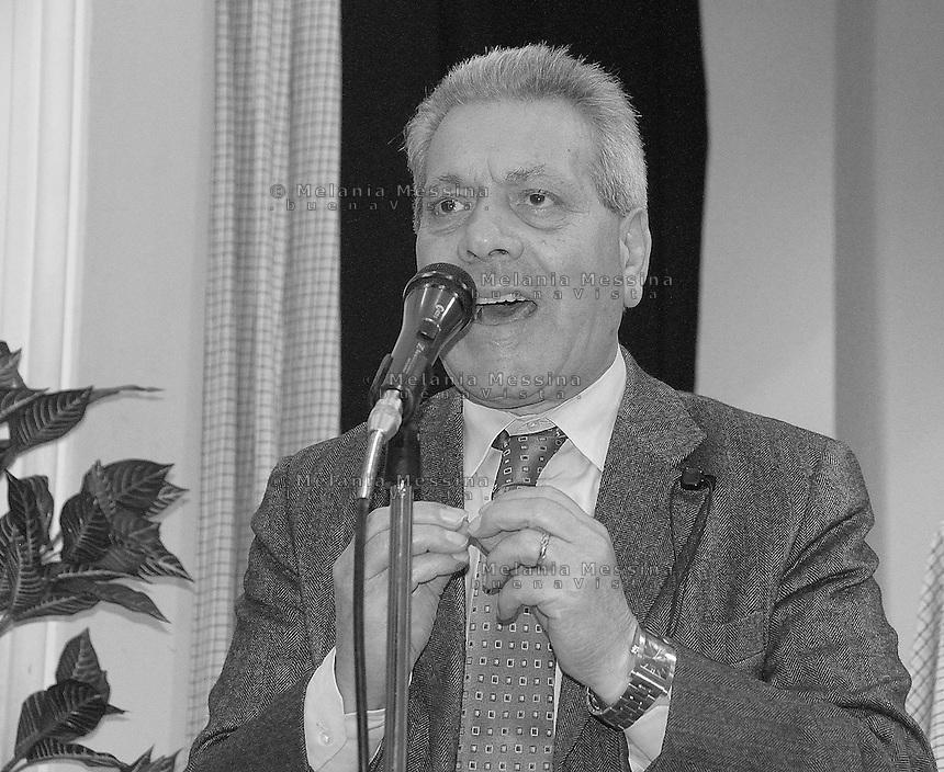Vincenzo Di Girolamo, secretary of the Democratic Party in Palermo, during a  meeting to promote primaries for candidates for mayor..Vincenzo Di Girolamo, segretario provinciale del PD a Palermo, durante un'assemblea cittadina per la convocazione delle primarie per le candidature a sindaco.