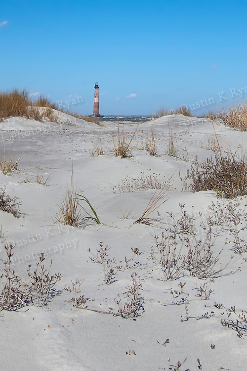 Morris Island Light house Folly Beach South Carolina blue sky