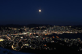 Mar 29, 2010; Nagasaki, JPN - View of Nagasaki at night from Mt. Isa.