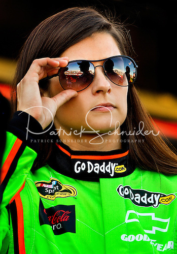 Photo of GoDaddy.com team driver Danica Patrick during opening ceremonies.