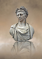 Roman marble sculpture bust of Emperor  Claudius 41-54 AD, inv 6068, Museum of Archaeology, Italy