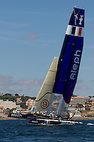 PORTUGAL, Cascais. 5th August 2011. America's Cup World Series. Practice day. ALEPH.
