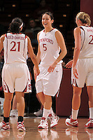Stanford, CA - JANUARY 8:  Forward Michelle Harrison #5 of the Stanford Cardinal during Stanford's 112-35 win against the Washington Huskies on January 8, 2009 at Maples Pavilion in Stanford, California.