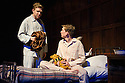 London, UK. 02.04.2014. ANOTHER COUNTRY, by Julian Mitchell, directed by Jeremy Herrin, opens at the Trafalgar Studios after a successful run at Chichester's Minerva Theatre last year. Picture shows: Will Attenborough (Judd) and Bill Milner (Wharton). Photograph © Jane Hobson.