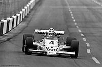 HAMPTON, GA - APRIL 22: Johnny Rutherford drives his McLaren M24B/Cosworth TC enroute to winning the Gould Twin Dixie 125 event on April 22, 1979, at Atlanta International Raceway near Hampton, Georgia.