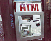 A non-bank ATM machine in the Chelsea neighborhood in New York on Tuesday, July 5, 2016. By October all ATM owners will have to have their machines chip-enabled or face liability over fraud. The cost of upgrading or replacing the machines is so expensive that some operators of private ATM's are planning to shut down some of their machines. (© Richard B. Levine)