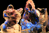 Northern Exposure, Ice sculpture of Eskimo family carved during the World Ice Art Championships held each march in Fairbanks, Alaska,