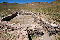 Stone ruins of Fort Piute, built in 1867, Mojave desert, California