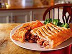 British Food - peppered steak lattice pie