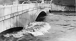 April 1924: Flood waters rise at Naugatuck's Whittemore Bridge 10 years after it was built.