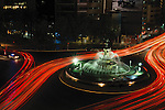 This sculpture has a tumultuous history.  Deemed to provocative because of the nude female body, at one point bronze underwear had to be added. It sits in the middle of a roundabout on Paseo de la Reforma and at night the taillight streaks look nice around the The Huntress.