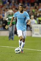 Gael Clichy (22) Manchester City in action..Manchester City defeated Chelsea 4-3 in an international friendly at Busch Stadium, St Louis, Missouri.